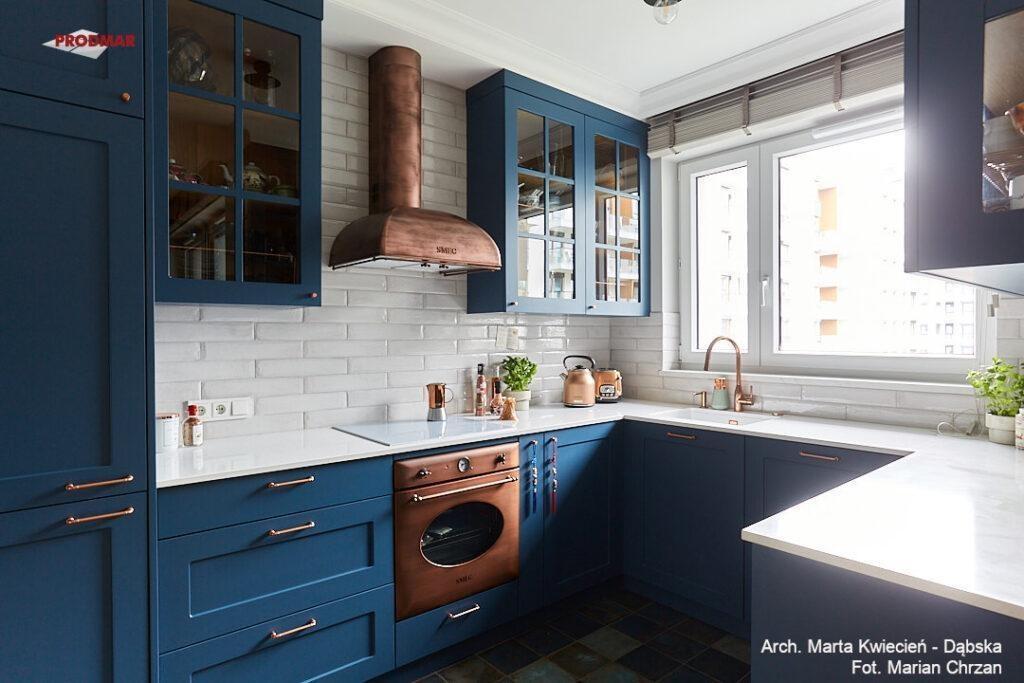 kuchnia niebieska
